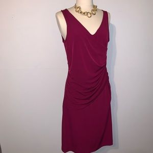 3/$15💎 NY&Co. Cranberry Wrap Style Dress